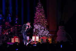 """ANAHEIM, CA - DEC 18: Singer Luis Coronel performs during his """"Noche Navideña"""" concert at the City National Grove on December 18, 2015 in Anaheim, California. Byline, credit, TV usage, web usage or linkback must read SILVEXPHOTO.COM. Failure to byline correctly will incur double the agreed fee. Tel: +1 714 504 6870."""