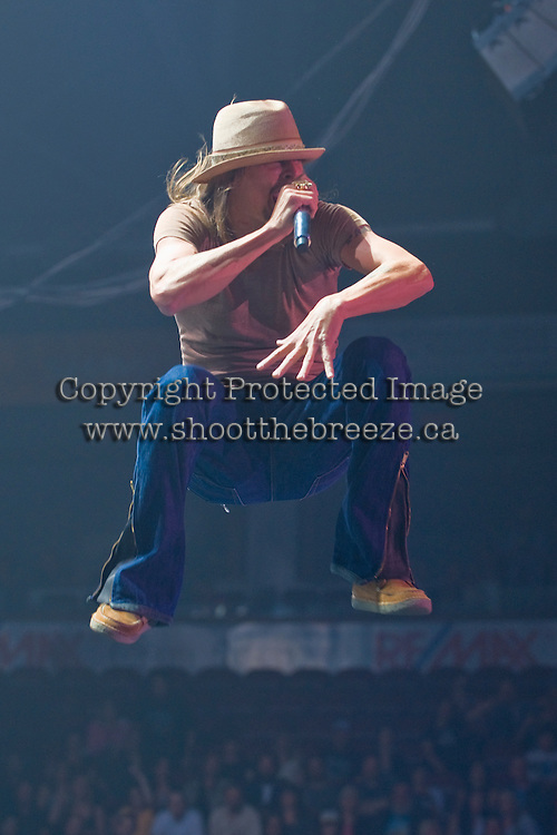 Kid Rock bursts onto the stage during a May 18 show at Prospera Place in Kelowna.