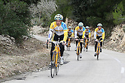 SPAIN / SPANJE / MALLORCA / CYCLING / WIELRENNEN / CYCLISME / CYCLOCROSS / VELDRIJDEN / TELENET FIDEA CYCLING TEAM / WINTERSTAGE / TRAINING CAMP / (L-R) QUINTEN HERMANS / TOON AERTS / NICOALS CLEPPE /