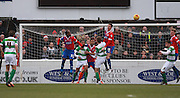 Yeovil put the Dagenham defence under pressure during the Sky Bet League 2 match between Dagenham and Redbridge and Yeovil Town at the London Borough of Barking and Dagenham Stadium, London, England on 27 February 2016. Photo by Bennett Dean.