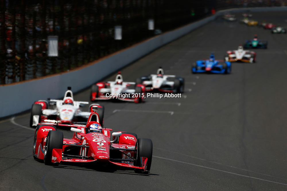 24 May, 2015, Indianapolis, Indiana, USA<br /> Scott Dixon leads Simon Pagenaud<br /> &copy;2015, Phillip Abbott<br /> LAT Photo USA