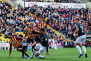 Vadaine Oliver of Northampton Town effort on goal during the EFL Sky Bet League 2 match between Bradford City and Northampton Town at the Utilita Energy Stadium, Bradford, England on 7 September 2019.