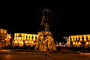 Skenderbeg Statue in central Tirana