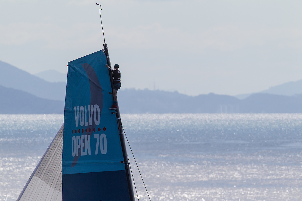 BRAZIL, Itajai. 6th April 2012. Volvo Ocean Race, Leg 5, Auckland-Itajai. Telefonica.