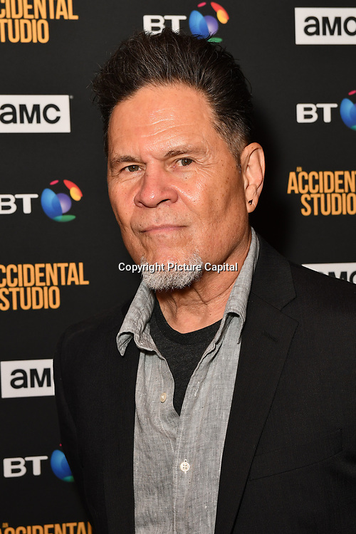 A Martinez Arrivers at Premiere of documentary about the British film production company, Handmade Films, created by George Harrison of the Beatles on 27 March 2019, London, UK.