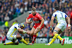 Drew Mitchell of Toulon in possession - Photo mandatory by-line: Patrick Khachfe/JMP - Mobile: 07966 386802 02/05/2015 - SPORT - RUGBY UNION - London - Twickenham Stadium - ASM Clermont Auvergne v RC Toulon - European Rugby Champions Cup Final