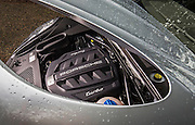 Image detail of a 2014 Porsche Macan Turbo engine, Seattle, Washington, Pacific Northwest