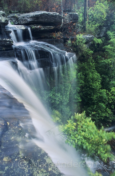 Waterfall, Upper National Falls, Royal National Park, Australia.