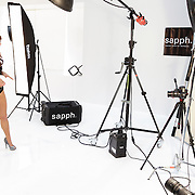 NLD/Amsterdam/20120405 - Fashionshoot Jamie Faber voor Sapph kerst 2012,