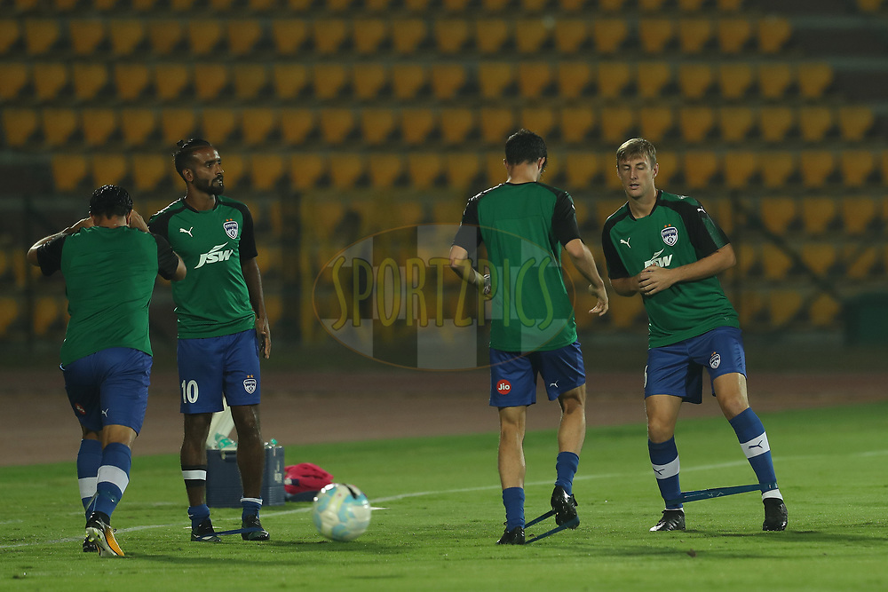 John Johnson of Bengaluru FC during match 19 of the Hero Indian Super League between NorthEast United FC and Bengaluru FC held at the Indira Gandhi Athletic Stadium, Guwahati India on the 8th December 2017<br /> <br /> Photo by: Ron Gaunt / ISL / SPORTZPICS