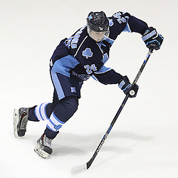 TORONTO, ON - SEP 11:  Pat Campagna #24 of the St.Michael's Buzzers during the pregame warm-up. OJHL regular season game between the St.Michael's Buzzers and the Georgetown Raiders St.Michael's Buzzers and Georgetown Raiders  on September 11, 2016 in Toronto, Ontario. (Photo by Tim Bates / OJHL Images)