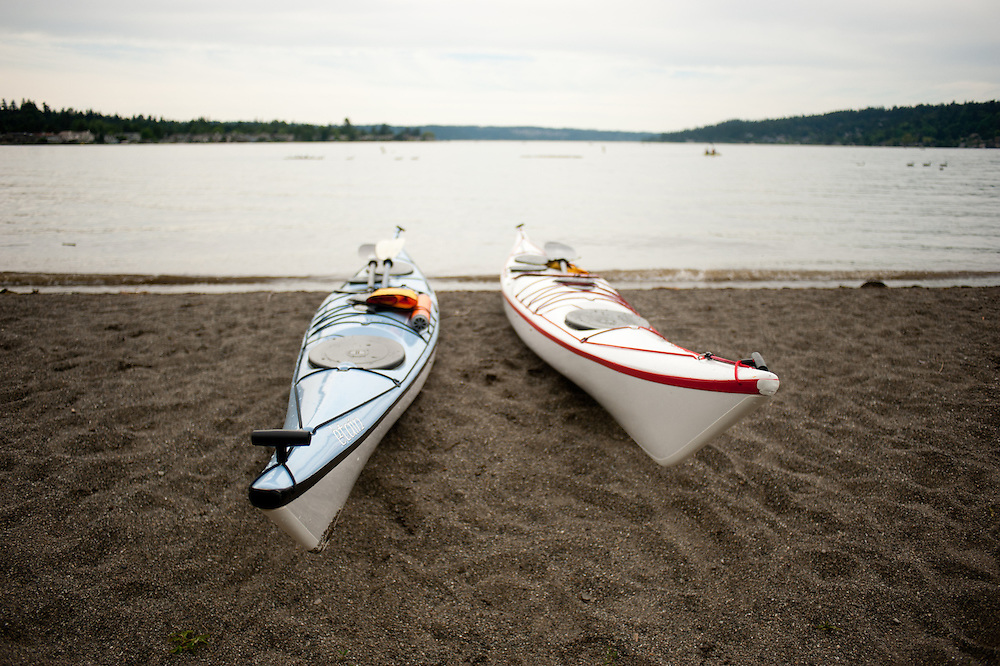 Boats at Lake Sammamish in western Washington.