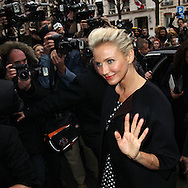 PARIS, FRANCE - JANUARY 23:  Cameron Diaz arrives at the Dior Haute-Couture 2012 show as part of Paris Fashion Week at Salons Christian Dior on January 23, 2012 in Paris, France.  (Photo by Tony Barson/WireImage)