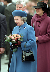 The Queen meets Czechs during her visit to Prague, their capital. The Queen and the Duke of Edinburgh later left the Czech Republic after a  three day visit. The Queen is wearing the Prince Albert Brooch, crafted from Diamonds and a large Sapphire, a gift from Prince Albert of Saxe-Coburg-Gotha to Queen Victoria on the eve of their wedding in 1840.