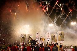 O Internacionalcomemora a Copa Libertadores da América 2006 após empatar com o São Paulo (SP) na segunda partida da final realizada no Estádio Beira Rio, em Porto Alegre. FOTO: Jefferson Bernardes/Preview.com