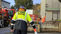 Auckland-Emergency crews at amonia leak, Westpac Mussels, Henderson