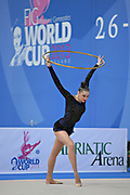 Alina Maksimenko during final at hoop in Pesaro World Cup at the Adriatic Arena on 28 April, 2013.<br />