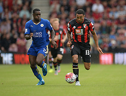 Callum Wilson of Bournemouth breaks free.  - Mandatory byline: Alex James/JMP - 07966386802 - 29/08/2015 - FOOTBALL - Dean Court -Bournemouth,England - AFC Bournemouth v Leicester City - Barclays Premier League