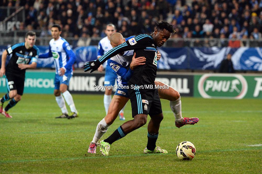 Michy BATSHUAYI - 04.01.2015 -  Grenoble / Marseille - Coupe de France<br />Photo : Gaston Petrelli  / Icon Sport