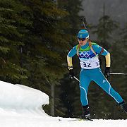 Winter Olympics, Vancouver, 2010. Valj Semerenko, Ukraine, in action during the Women's 7.5 KM Sprint Biathlon at The Whistler Olympic Park, Whistler, during the Vancouver  Winter Olympics. 13th February 2010. Photo Tim Clayton
