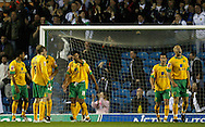 Leeds - Monday October 19th, 2009: Norwich players react as Leeds score their first goal during the Coca Cola League One match at Elland Road, Leeds. (Pic by Paul Thomas/Focus Images)..