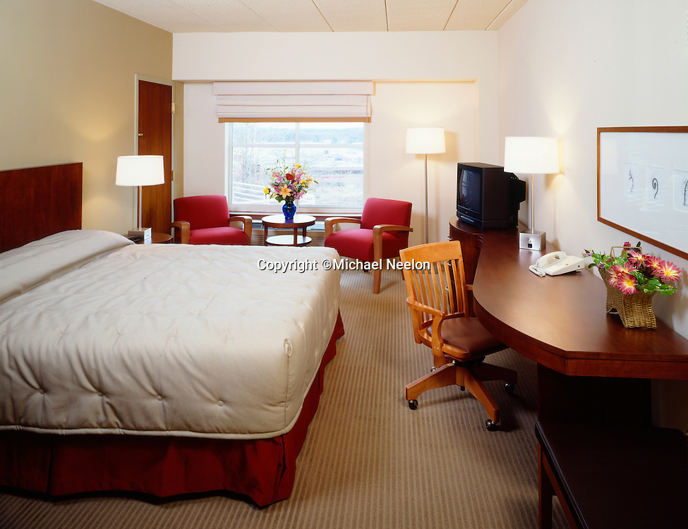 Interior Architectural Photography of Boston Hotel Guest Room