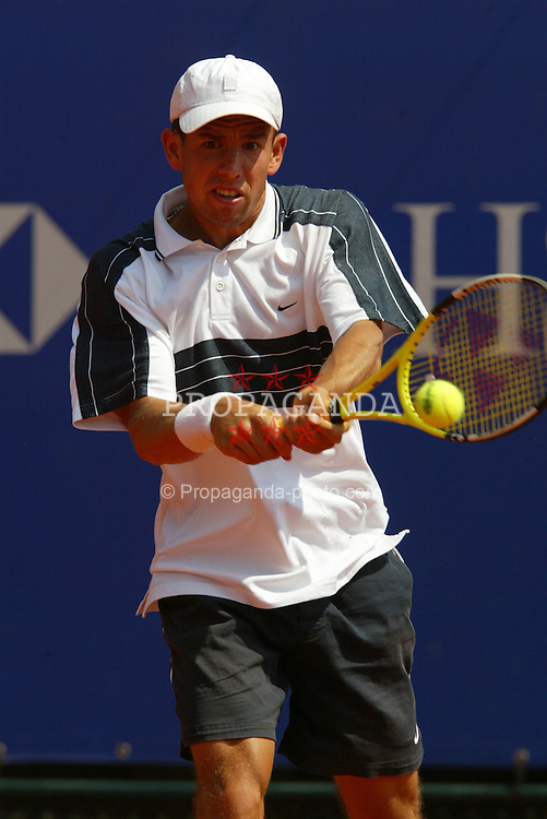 MONTE-CARLO, MONACO - Tuesday, April 15, 2003: Dominik Hrbaty (Slovakia) in action during the 1st Round of the Tennis Masters Monte-Carlo. (Pic by David Rawcliffe/Propaganda)