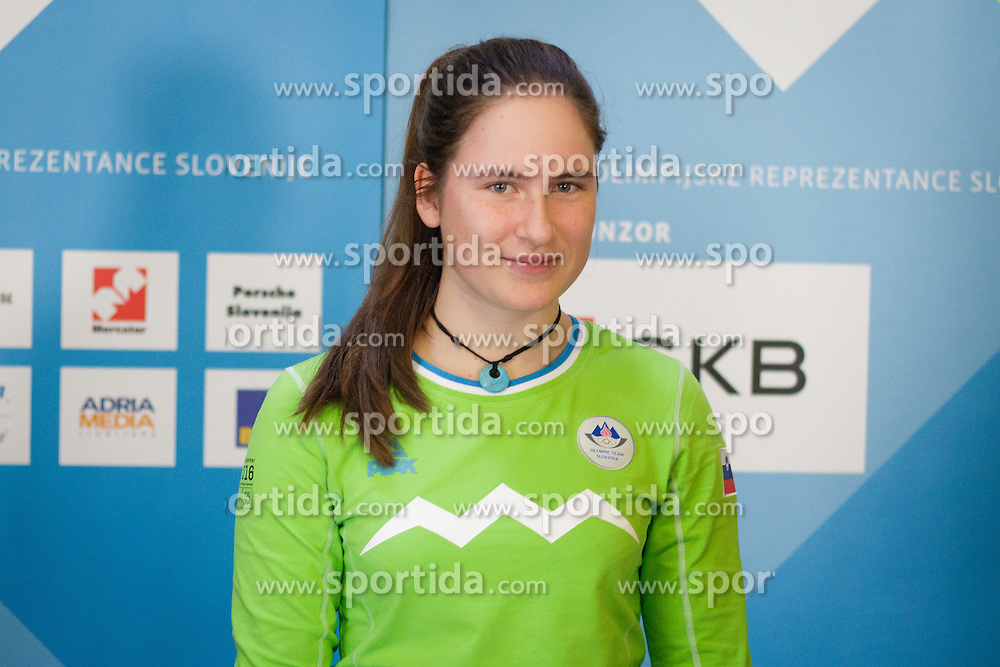 Taisa Vozelj during presentation of Team Slovenia at Lillehammer 2016 Winter Youth Olympic games, on February 4, 2016 on Bled, Slovenia. Photo by Ziga Zupan / Sportida