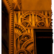 Art Deco bronze reliefs in the Chanin Building in New York City.