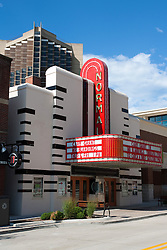 24 July 2010: Historic Normal Theater is located on North Street next to the Normal Convention Center and in the shadow of the Marriot and Illinois State University's Waterson Towers.  UPtown (the redesigned, refurbished downtown district) Normal, Normal Illinois