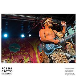 Vhirin at the Go Wellington Cuba St Carnival at Cuba St, Wellington, New Zealand.