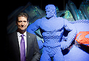 THE ART OF THE BRICK: DC SUPER HEROES <br /> designed by Nathan Sawaya <br /> South Bank, London, Great Britain <br /> 28th February 2017 <br /> <br /> London debut opens on 1st March 2017<br /> <br /> <br /> Nathan Sawaya <br /> Artist <br /> <br /> Together with Warner Bros. and DC Entertainment, Nathan Sawaya has created the world&rsquo;s largest collection of artwork inspired by DC's Justice League, including Batman, Superman, Wonder Woman, alongside DC Super-Villains the Joker, Harley Quinn and more.<br />  <br /> <br />  <br /> THE ART OF THE BRICK: DC SUPER HEROES exhibition includes more than 120 original pieces, created exclusively from LEGO bricks, including a life-size Batmobile (5.5 meters) and built from half a million standard pieces. Sawaya has captured on a real scale some of the most iconic Super Heroes and Super-Villains from DC, exploring more than 80 years of history.<br /> <br /> <br /> <br /> Photograph by Elliott Franks <br /> Image licensed to Elliott Franks Photography Services