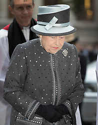 © Licensed to London News Pictures. 30/06/2016. London, UK. Queen Elizabeth II arrives for The Battle of the Somme Centenary Service and Vigil at Westminster Abbey. An overnight vigil at the Grave of the Unknown Warrior will start tonight and end at 0730 tomorrow morning. Photo credit: Peter Macdiarmid/LNP