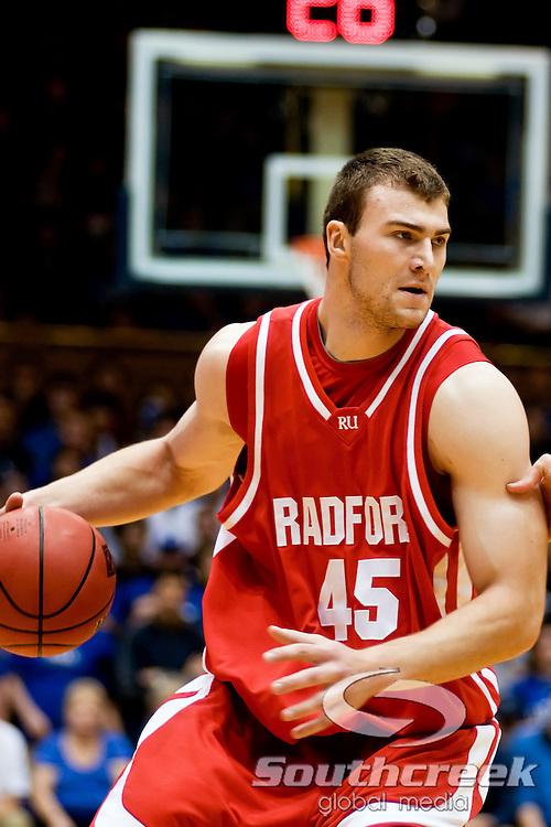 21 November 2009: Radford (45) Artsiom Parakhouski senior center..Duke Rolls Past Radford 104-67 .Mandatory Credit: Mark Abbott / Southcreek Global