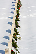 65095-03105 Wreaths on graves in winter Jefferson Barracks National Cemetery St. Louis,  MO