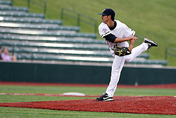 09 June 2011: Cornbelters starting pitcher Bobby Pritchett during a game between the Lake Erie Crushers and the Normal Cornbelters at the Corn Crib in Normal Illinois.