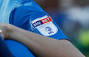 EFL branding on Rochdale players shirts during the EFL Sky Bet League 1 match between Rochdale and Charlton Athletic at Spotland, Rochdale, England on 5 May 2018. Picture by Paul Thompson.