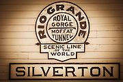 Durango & Silverton Narrow Gauge Railroad train depot, Silverton, Colorado USA