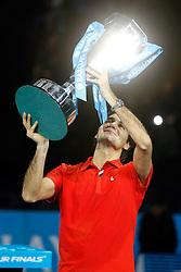25.11.2010, Marriott Country Hall, London, ENG, ATP World Tour Finals, im Bild Federer, Roger (SUI), EXPA/ InsideFoto/ Semedia+++++ ATTENTION - FOR AUSTRIA/AUT, SLOVENIA/SLO, SERBIA/SRB an CROATIA/CRO CLIENT ONLY +++++