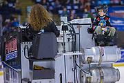 KELOWNA, CANADA - FEBRUARY 17:  Orchard Park Zamboni Rider at the Kelowna Rockets game on February 17, 2018 at Prospera Place in Kelowna, British Columbia, Canada.  (Photo By Cindy Rogers/Nyasa Photography,  *** Local Caption ***