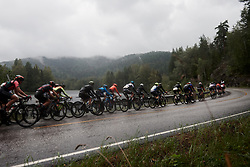 Battling the elements during Ladies Tour of Norway 2019 - Stage 1, a 128 km road race from Åsgårdstrand to Horten, Norway on August 22, 2019. Photo by Sean Robinson/velofocus.com
