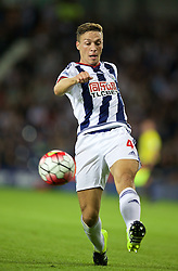 WEST BROMWICH, ENGLAND - Monday, August 10, 2015: West Bromwich Albion's James Chester in action against Manchester City during the Premier League match at the Hawthorns. (Pic by David Rawcliffe/Propaganda)