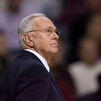 13 january 2009: Larry Brown, head coach of the Charlotte Bobcats, is seen during the Charlotte Bobcats 80-78 over the Detroit Pistons at the Palace of Auburn Hills, in Detroit, Michigan, USA.