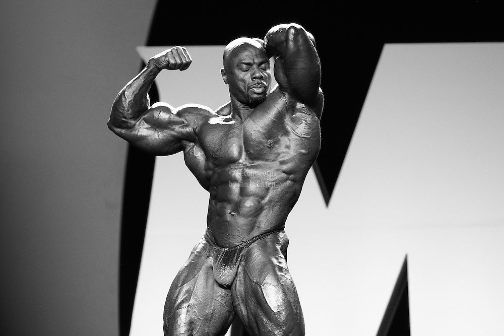 Toney Freeman competing at the 2010 Mr. Olympia finals in Las Vegas.