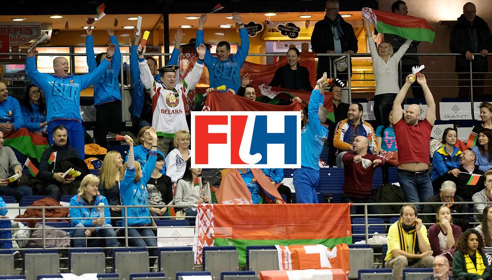 BERLIN - Indoor Hockey World Cup<br /> Quarterfinal 1: Belarus - Australia<br /> foto: Belarus fans.<br /> WORLDSPORTPICS COPYRIGHT FRANK UIJLENBROEK