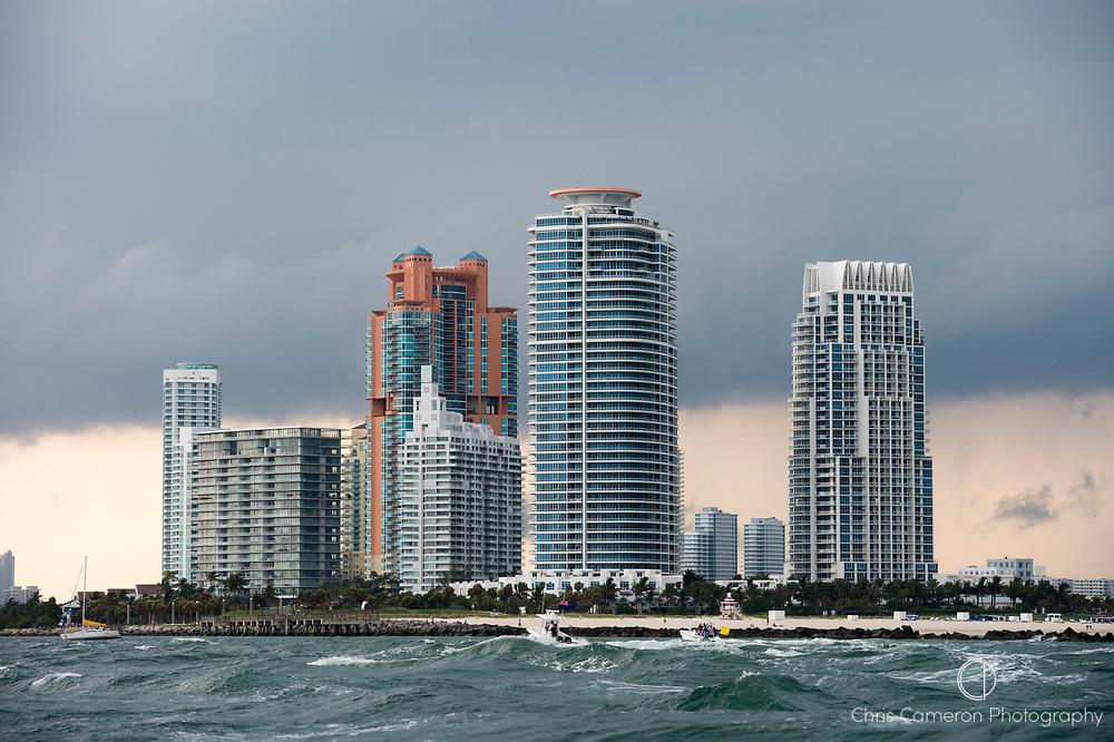 Storm clouds over Miami, Florida