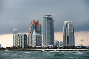 Storm clouds over Miami, Florida