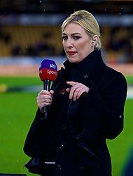 WOLVERHAMPTON, ENGLAND - Friday, December 21, 2018: Kelly Cates working for Sky Sports before the FA Premier League match between Wolverhampton Wanderers FC and Liverpool FC at Molineux Stadium. (Pic by David Rawcliffe/Propaganda)