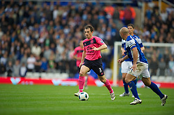 BIRMINGHAM, ENGLAND - Saturday, October 2, 2010: Everton's Leighton Baines in action against Birmingham City during the Premiership match at St Andrews. (Photo by David Rawcliffe/Propaganda)