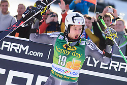 March 9, 2019 - Kranjska Gora, Kranjska Gora, Slovenia - Rasmus Windingstad of Norway celebrating his second place at the Audi FIS Ski World Cup Vitranc on March 8, 2019 in Kranjska Gora, Slovenia. (Credit Image: © Rok Rakun/Pacific Press via ZUMA Wire)